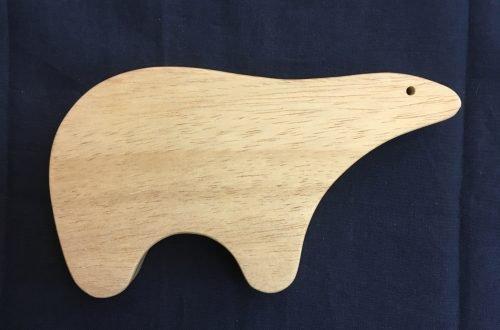 Houten ijsbeer