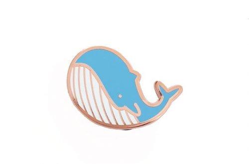 Walvis pin lichtblauw