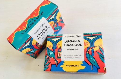 Natural vegan shampoo bar Argan & Rhassoul