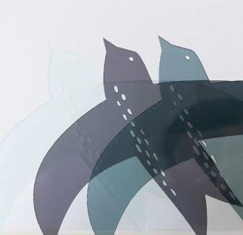 'Dipper' raamhanger acrylaat Smoke Grey – La Miseto