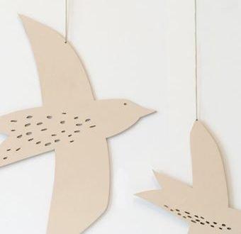 'Starling' houten muurhanger Pale – La Miseto